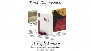 Three dimensions: A triple book launch – прэзэнтацыя трох новых кніг
